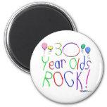 ¡30 años de la roca! imanes para frigoríficos