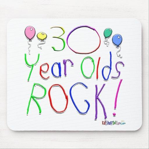 ¡30 años de la roca! tapetes de ratón