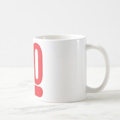 30 años más - rojo taza clásica