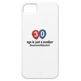 30 años nada pero un número diseñan iPhone 5 carcasa