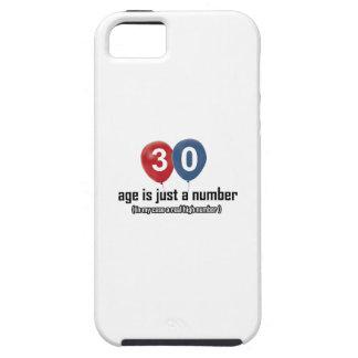 30 años nada pero un número diseñan iPhone 5 funda