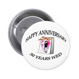 30 años se casan pin redondo de 2 pulgadas