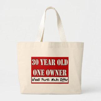 30 años, un dueño - las piezas de las necesidades, bolsa tela grande