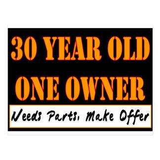30 años, un dueño - las piezas de las necesidades, tarjetas postales
