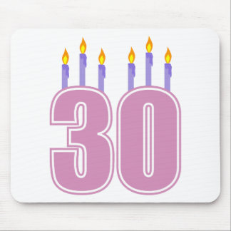 30 Birthday Candles (Pink / Purple) Mouse Pad