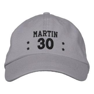 30 Birthday Custom Name BLACK Embroidery V62C Embroidered Baseball Hat