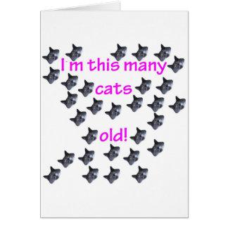 30 cabezas del gato viejas tarjeta de felicitación
