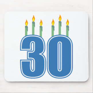 30 Candles (Blue / Green) Mouse Pad