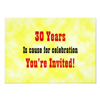 30  Celebration Invitation