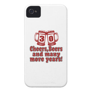 30 Cheers Beers Birthday Designs Case-Mate iPhone 4 Case