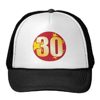 30 CHINA Gold Trucker Hat