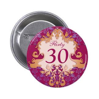 """""""30"""" coqueto botón/insignia del elefante del pin redondo de 2 pulgadas"""