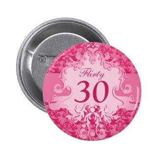 """30"" coqueto botón/insignia del rosa del elefante pin redondo de 2 pulgadas"