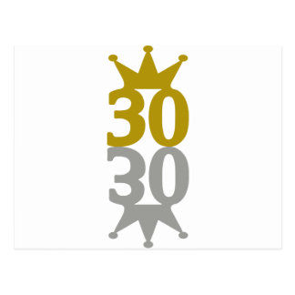 30-Crown-Reflection Postcard