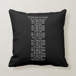 30-Day Nap Challenge Pillow