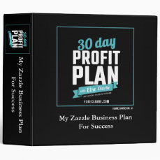 30 Day Profit Plan Advanced Zazzle Course Binder