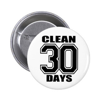 30 days  clean black buttons