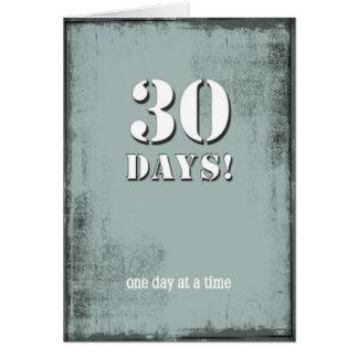 30 Days Sober Clean Birthday Card