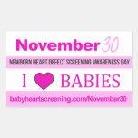 30 de noviembre: Pegatinas recién nacidos del día