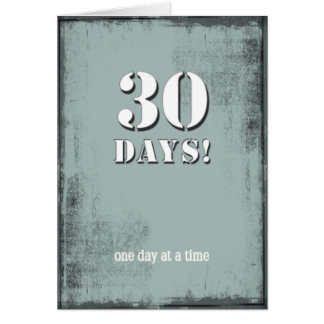 30 días calman la tarjeta de cumpleaños limpia
