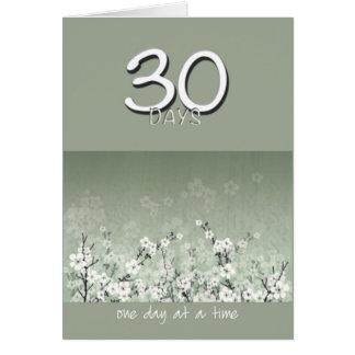 30 días calman la tarjeta de cumpleaños limpia de