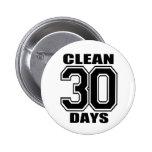 30 días limpian negro pin redondo 5 cm