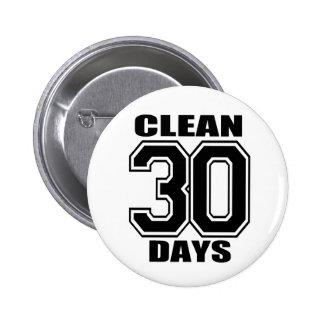 30 días limpian negro pin redondo de 2 pulgadas