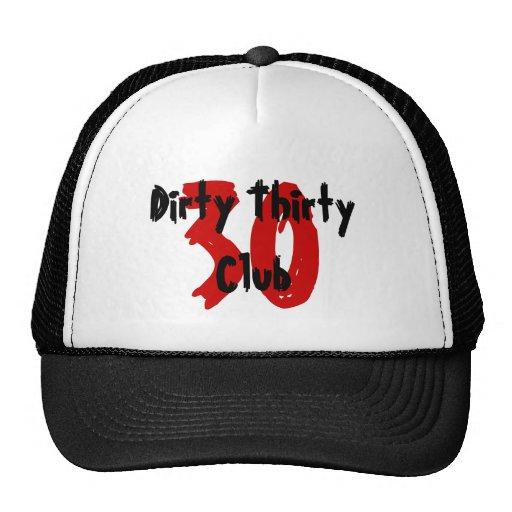 30, Dirty Thirty Club Hats