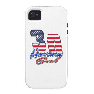 30 diseños del cumpleaños del alma del americano Case-Mate iPhone 4 fundas