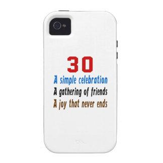 30 diseños del cumpleaños Case-Mate iPhone 4 carcasas