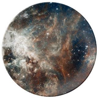 30 Doradus Nebula and Star Clusters Porcelain Plate