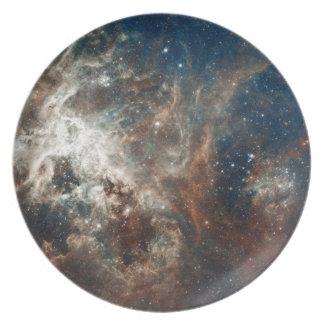 30 Doradus Nebula and Star Clusters Dinner Plates