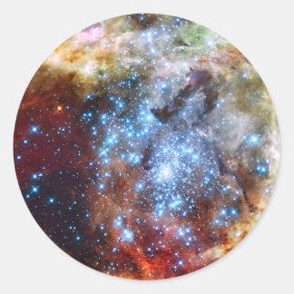 30 Doradus Nebula Star Clusters Classic Round Sticker