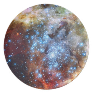 30 Doradus Nebula Star Clusters Dinner Plate