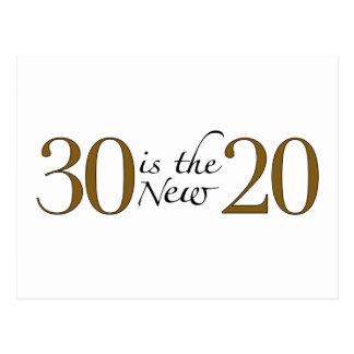 30 es los nuevos 20 postales
