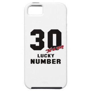 30 es mi número afortunado iPhone 5 carcasa