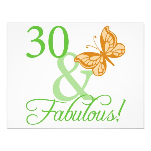 30 & Fabulous Birthday Gifts Invites