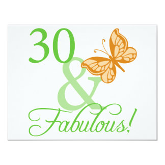30 & Fabulous Birthday Gifts Invites