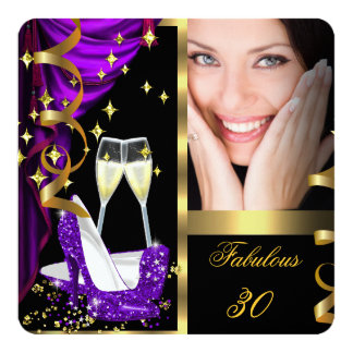30 Fabulous & Fantastic Purple Champagne Party 4 Card