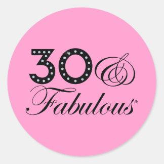 30 & Fabulous Gift Sticker