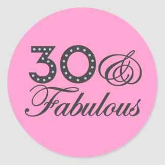 30 & Fabulous Gift Round Stickers