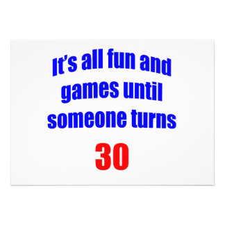 30 Fun and Games Personalized Announcements