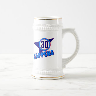 30 Happens 30th Birthday Gifts 18 Oz Beer Stein
