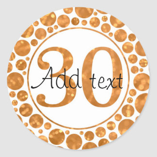 30 In Gold - 30th Birthday Party Stickers