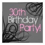 30 invitaciones rosadas del personalizado del invitación