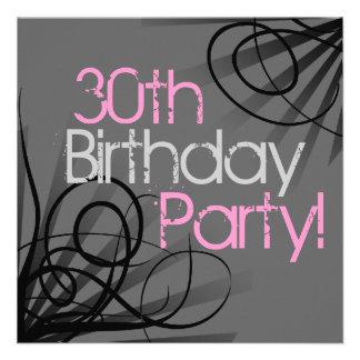 30 invitaciones rosadas del personalizado del remo invitación