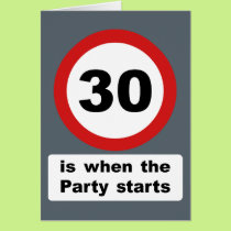 30 is when the Party Starts Card