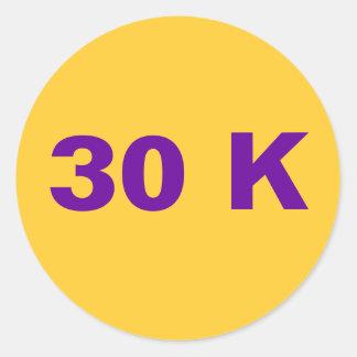 30 K CLASSIC ROUND STICKER