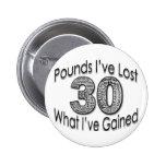 30 libras de botón perdido pin