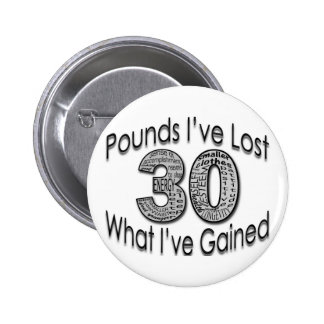30 libras de botón perdido pin redondo de 2 pulgadas